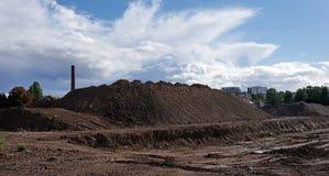工业荒原在巴黎的郊区 免版税库存照片