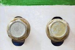 工业装置螺栓  库存图片