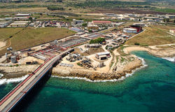 工业西西里岛 库存图片