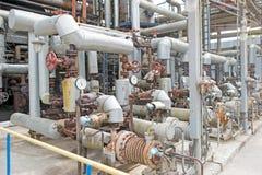 工业设备和管道 免版税库存图片