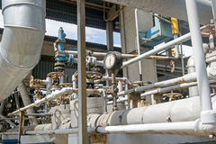 工业设备和管道 库存图片