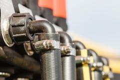 工业详细的气动力学,水力钢泵浦 免版税图库摄影
