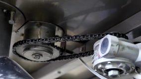 工业车床机制链子在制造过程中 影视素材