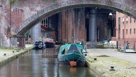 工业运河 库存照片