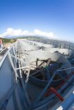 工业通风系统,植物的屋顶 免版税图库摄影