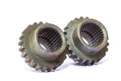 工业金属齿轮 免版税库存图片