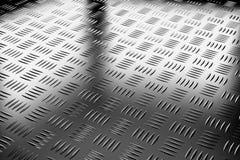 工业钢地板对角线视图 库存照片
