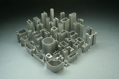 工业铝挤压的摘要 库存照片