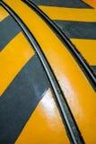 工业镶边路或步警告铁路 免版税库存图片
