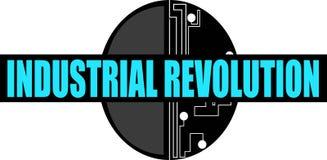 工业革命词概念性例证 免版税库存图片
