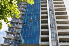 工业风窗清洁器 免版税库存照片