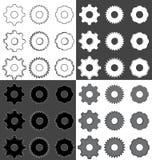 工业齿轮集合 图库摄影
