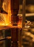 工业,汽车点焊运动 库存照片