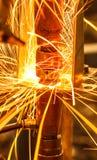 工业,汽车点焊 免版税库存图片