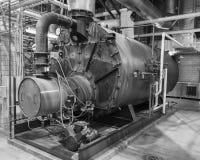 工业以煤气为燃料的锅炉 免版税库存图片