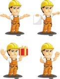 工业建筑工人定制的吉祥人 库存照片