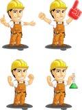 工业建筑工人定制的吉祥人 免版税库存照片