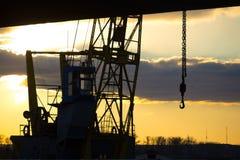 工业建筑用起重机a特写镜头  图库摄影