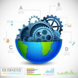 工业Infographics图 免版税库存图片