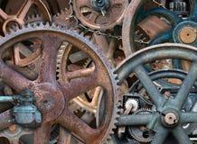 工业Steampunk背景,齿轮,轮子 免版税库存照片
