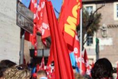 工会demostration 库存照片