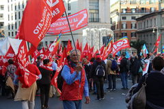 工会demostration 库存图片