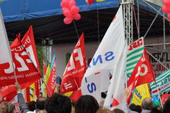工会demostration 图库摄影