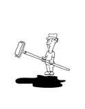工作乔多的位画家 免版税库存图片