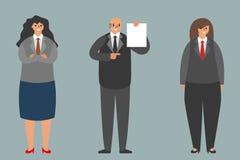 工作乘员组企业队站立字符小组概念现代平的设计传染媒介例证的办公室工作者 皇族释放例证