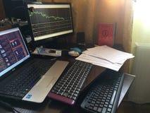 工作书桌 免版税库存图片