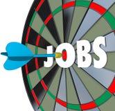 工作事业掷镖的圆靶箭成功的就业 免版税库存图片