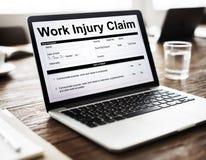 工作伤害要求保险概念 免版税库存照片