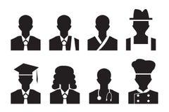 工作具体化外形图片 商人,律师和更多 免版税库存图片