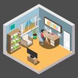 工作区等量的构思设计 库存照片