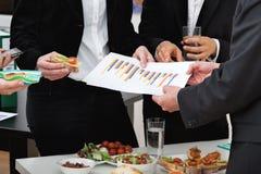 工作午餐的经理 免版税图库摄影
