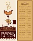 工作午餐菜单 库存例证