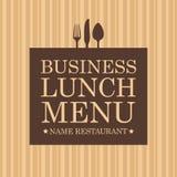 工作午餐菜单 向量例证