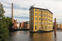 工作博物馆。工业风景。诺尔雪平。瑞典 免版税库存照片