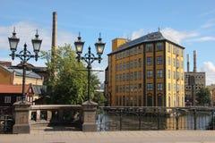 工作博物馆。工业风景。诺尔雪平。瑞典 图库摄影