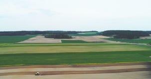 工作在农田-空中射击的农夫 影视素材