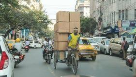 工作在加尔各答 库存照片