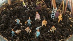 工作在土壤的农夫 免版税库存图片