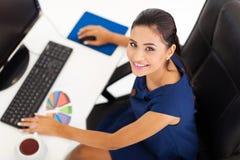 公司工作者书桌 免版税库存照片