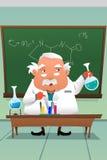 工作在实验室的化学教授 库存照片