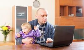 工作在家。 免版税库存图片