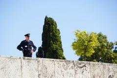 工作在希腊议会的警察在雅典,希腊 免版税库存照片