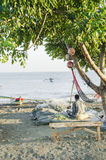 海滩的帝力东帝汶渔夫 库存照片