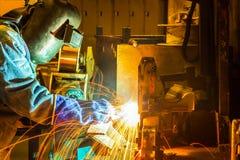 工作在焊接技巧  库存照片