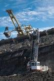 工作在煤矿 免版税库存照片