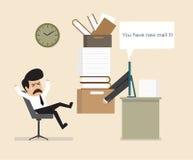 工作在网上被定购 免版税库存图片